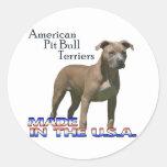 Terrieres de pitbull americanos: Pequeños Pegatinas Redondas