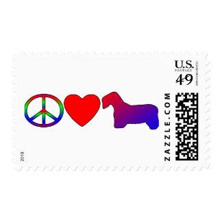 Terrieres de Sealyham del amor de la paz Timbre Postal
