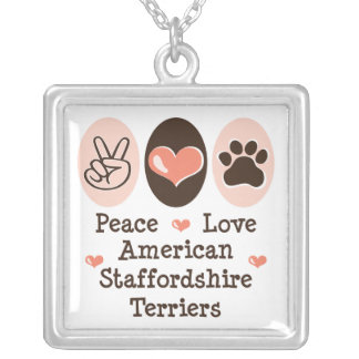 Terrieres de Staffordshire americano del amor de l Joyeria Personalizada