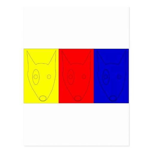 Terrieres del color primario postales