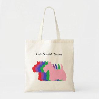 Terrieres del escocés del amor bolsa tela barata