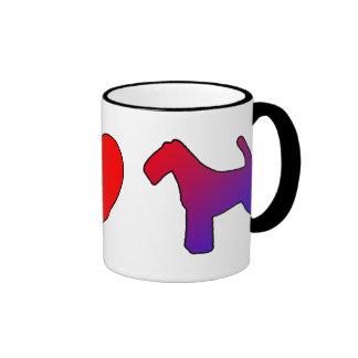 Terrieres galeses del amor de la paz taza de dos colores