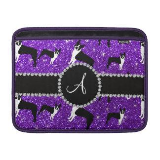 Terrieres púrpuras de Boston del brillo del añil Fundas Macbook Air