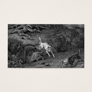 Terriers Black & White Dog Art Business Card