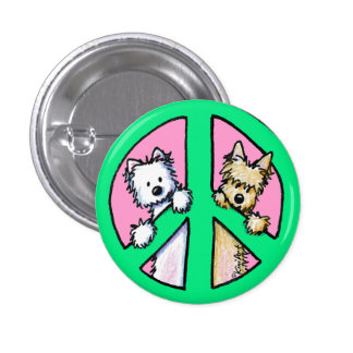 Terriers For Peace 1 Inch Round Button