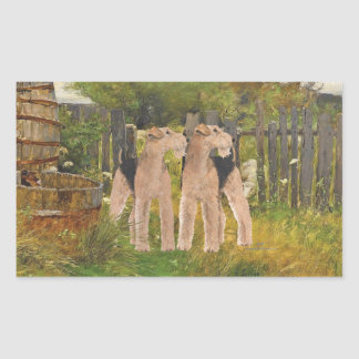 Terriers on the Farm Rectangular Sticker
