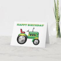 Terriffic Tractor Birthday Card