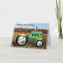 Terriffic Tractor in the Field Birthday Card
