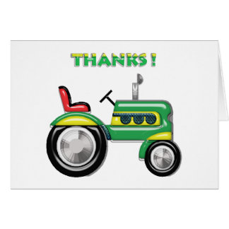 Terriffic Tractor Thanks Card