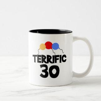 Terrific 30 Thirty 30th Birthday Two-Tone Coffee Mug
