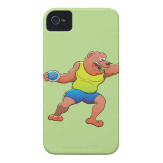 Terrific brown bear performing a discus throw Case-Mate iPhone 4 case