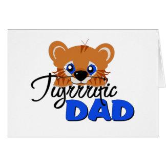 Terrific Dad Cute Tiger Card