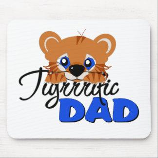 Terrific Dad Cute Tiger Mouse Pad