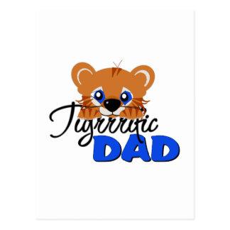 Terrific Dad Cute Tiger Post Cards