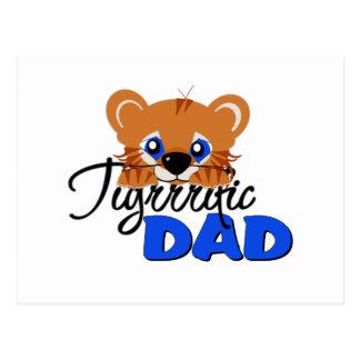 Terrific Dad Cute Tiger Postcard