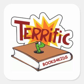 Terrific Star for Bookworms Square Sticker