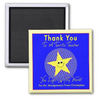 Terrific Star Teacher Thank You from Student Magnet