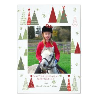 Terrific Trees Photo Holiday Card