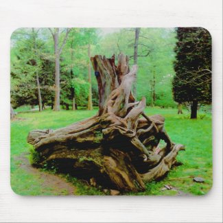 Terrific Twisted Tree Trunk mousepad