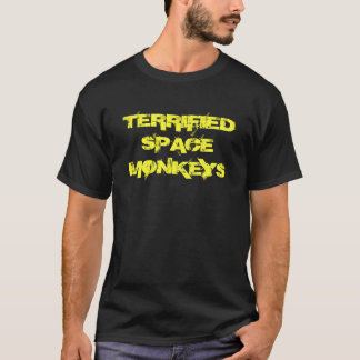 Terrified Space Monkey Double sided T-Shirt