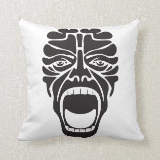 terrifying scream throw pillow