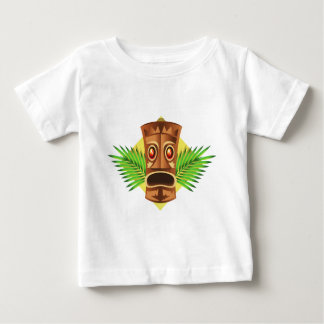 Terrifying Tiki Tropical Statue With Palms Baby T-Shirt