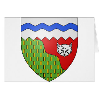 Territoires du Nord Ouest, Canada Greeting Card