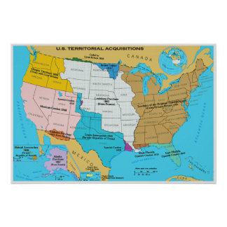 Territorial Acquisitions of the United States Poster