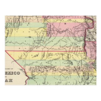 Territories Of New Mexico and Utah Postcard