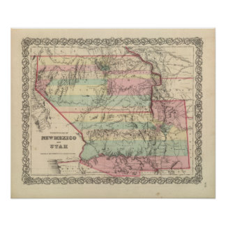 Territories of New Mexico and Utah Poster