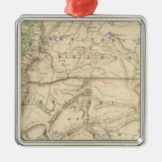 Territories of Washington and Oregon Metal Ornament