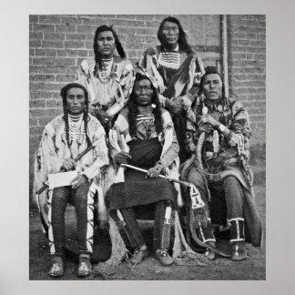 Territorio 1879 de Fargo Dakota de los jefes indio Impresiones