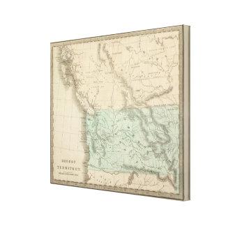 Territorio 2 de Oregon Impresion De Lienzo