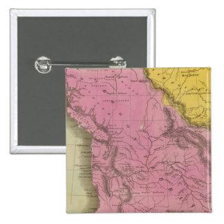 Territorio 2 de Oregon Pin Cuadrado