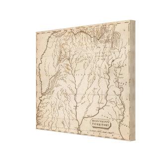 Territorio 4 de Mississippi Impresión En Lona