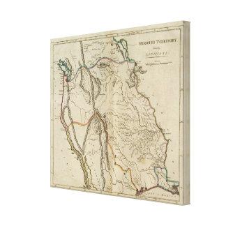 Territorio antes Luisiana de Missouri Impresion De Lienzo