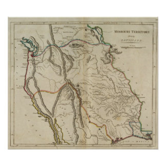 Territorio antes Luisiana de Missouri Poster