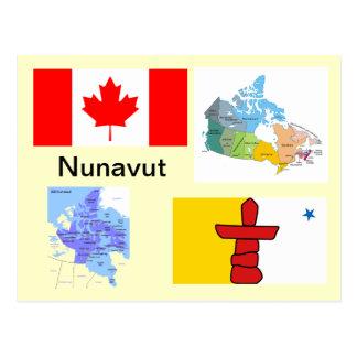 Territorio Canadá de Nunavut Tarjeta Postal