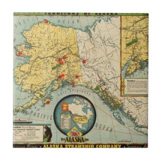 Territorio de Alaska Azulejo Cuadrado Pequeño