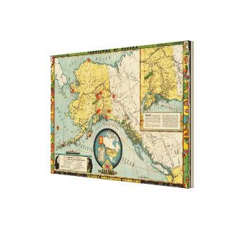 Territorio de Alaska Impresión En Lona