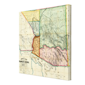 Territorio de Arizona Lienzo Envuelto Para Galerías