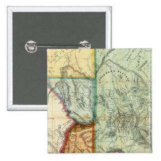 Territorio de Arizona Pin Cuadrado