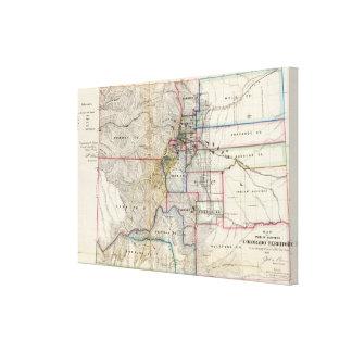 Territorio de Colorado Lienzo Envuelto Para Galerías