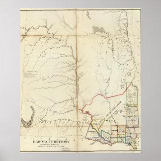 Territorio de Dakota Poster