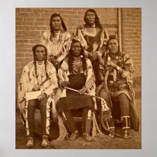 Territorio de Fargo Dakota de 1879 jefes indios de Impresiones