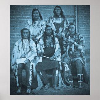Territorio de Fargo Dakota de los jefes indios del Posters