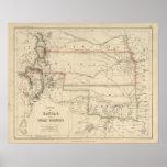 Territorio de Kansas y de nativos americanos Posters