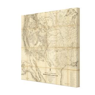 Territorio de los Estados Unidos Impresión En Lienzo