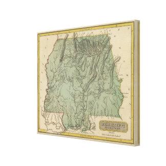 Territorio de Mississippi Impresión En Lona Estirada