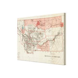Territorio de Montana Impresiones En Lienzo Estiradas